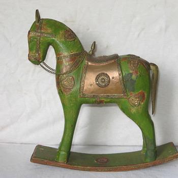 vintage rocking horse toy? - Toys