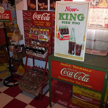 1958 Cardboard display Sign - Coca-Cola