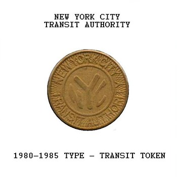 1980 - New York City Transit Token - US Coins