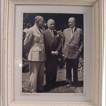 Photograph of three Presidents by Alan W. Richards c.1947