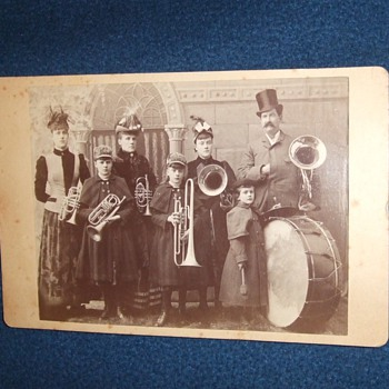Family Band cabinet card - Photographs