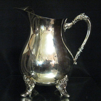 c.1944 C.D. PEACOCK  JEWELER SILVER PLATED WATER PITCHER. - Sterling Silver