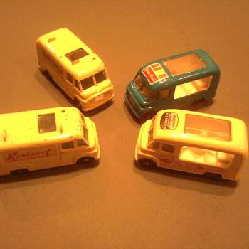 Ice cream truck & Tv repair trucks by Matchbox...