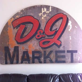D&J Market Sign