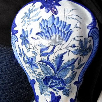 Thrift Shop find 18th century Delft Vase - Art Pottery