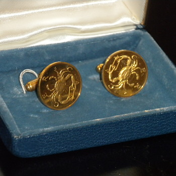 18KT Zodiak Cancer Cufflinks