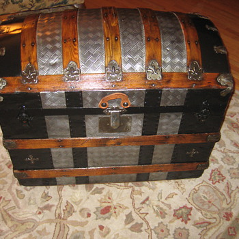 Metal Covered Roundtop Trunk - Furniture