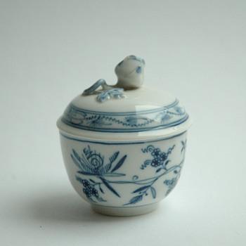 old mid century meissen porcelain box