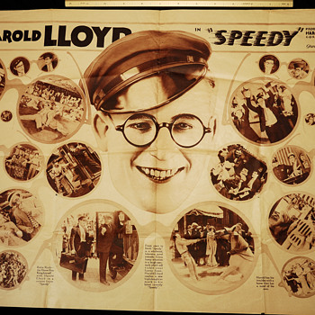 Harold Lloyd, Newsprint Insert and Patrons Fan