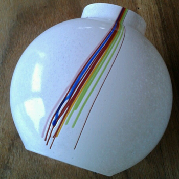 Kosta Boda Bertil Vallien Rainbow striped vase - Art Glass