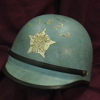 1960's-1970's Chicago Police Motorcycle Officer's Helmet - Motorcycles