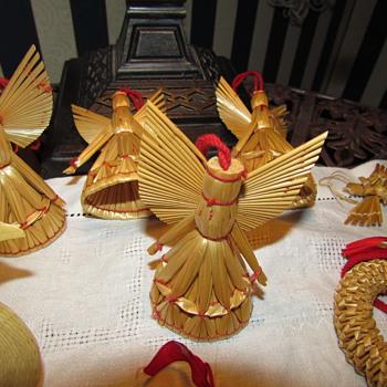 Vintage Swedish Straw Christmas Ornaments