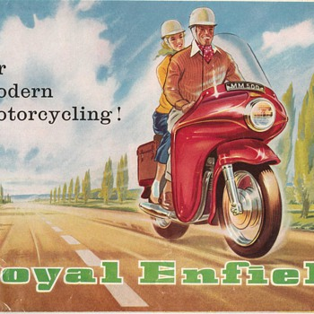 1960 Royal Enfield Motorcycles Brochure/Poster