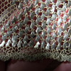Vintage Heavy Copper crochet shawl