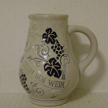 GERMAN STONEWARE PITCHER  - China and Dinnerware
