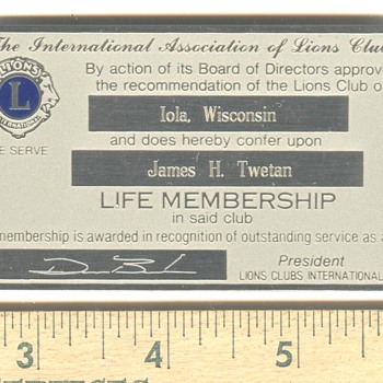 Lions Club Lifer - Advertising