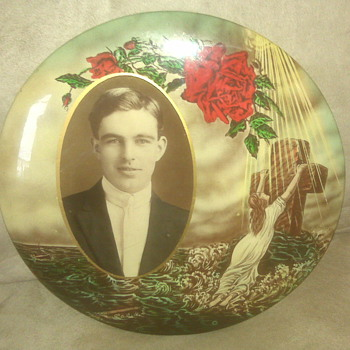 Photo with button style frame, would like info - Photographs