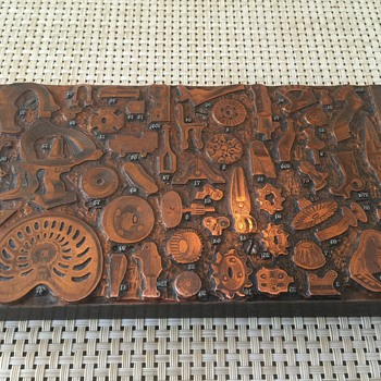 Rand McNally printing press plate - Office