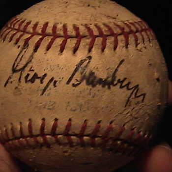 Another Baseball Signed by George Bamberger and other??? - Baseball