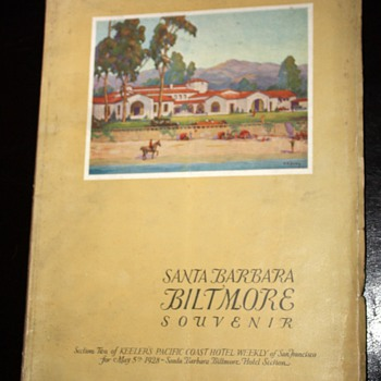 1928 Brochure for the grand opening of the Biltmore, Santa Barbara - Paper