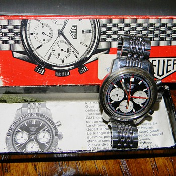 RARE Vintage Men's Tag Huer Autavia GMT Orig Box/Papers  - Wristwatches
