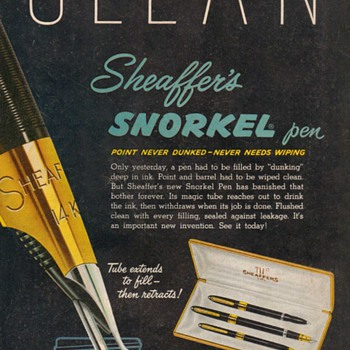 1953 - Sheaffer's Pens Advertisement - Advertising