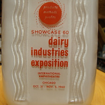 1960 Dairy Industries Exposition milk bottle....