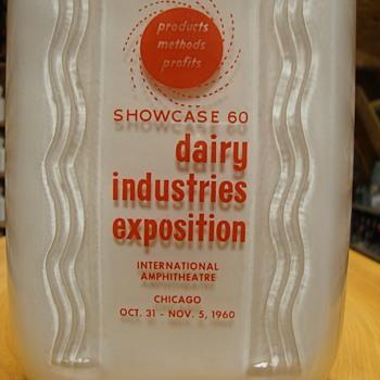1960 Dairy Industries Exposition milk bottle.... - Bottles