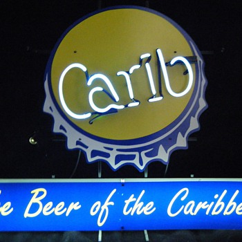 Carib Beer neon sign - Signs