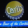 Carib Beer neon sign