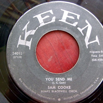 "Sam Cook classic ""You Send Me"" 45rpm on KEEN"