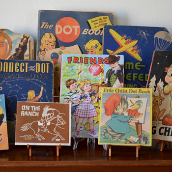 My Vintage Coloring Books & Dot-to-Dots!