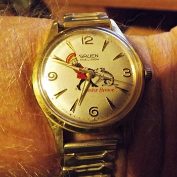 "Not Your ""Everyday"" Buster Brown Wrist Watch Circa 1950"