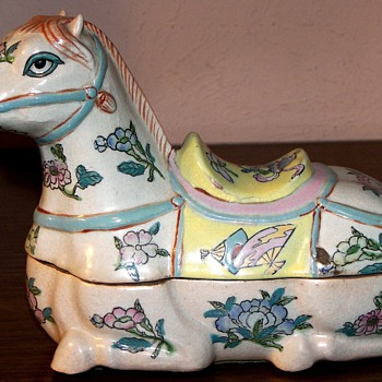 Japanese Reclining Horse - Asian