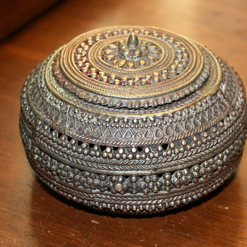 Beautiful Metal Box - silver plated brass? where's it from? - Sterling Silver