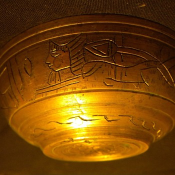 Hand carved Egyptian Brass Bowl  - Kitchen