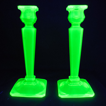 Tall and heavy candlesticks