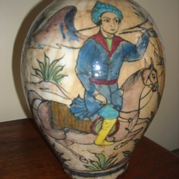 Persian Vase (low fired)  Any guesses on where and when it was made? - Asian