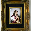 Antique T&V Limoges Hand Painted Signed Portrait Plaque