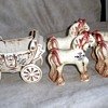 Cinderella Princess Coach & Four Horses by BZ Originals, CA Pottery