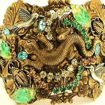 LIZARD AND BIRDS  BRACELET - Costume Jewelry