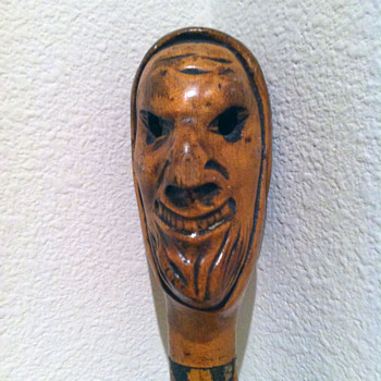 Very Unique Hand Carved Walking Stick - Accessories