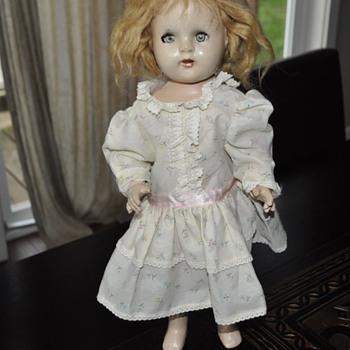 """Vintage doll, 17"""" tall."""