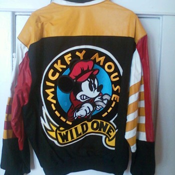 "Leather Mickey Mouse ""Wild One"" Jacket - Animals"