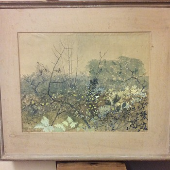 "1940s Watercolour Painting ""The Rough Wood"" Lionel Bulmer - Visual Art"