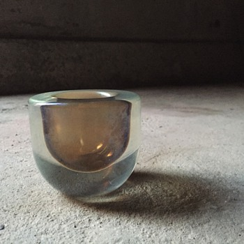 Iridescent case glass candle holder?
