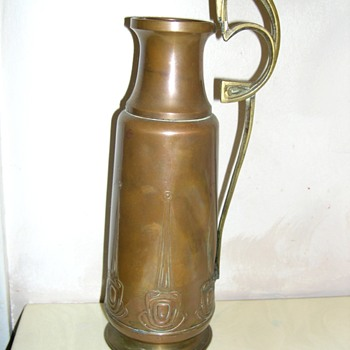 Arts & Crafts Copper Pitcher  I Think - Arts and Crafts