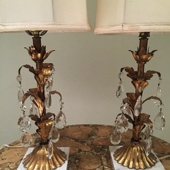 Italian  table lamps  early 1900s? Possible Hollywood regency. - Lamps