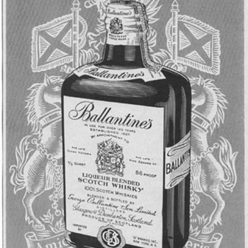 1954 Ballentines Scotch Advertisement 1