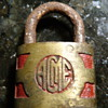 Acme lock with red trim